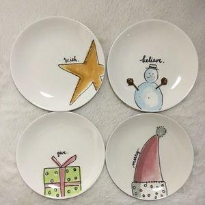💗SOLD💗 Rae Dunn Christmas Small Round Plate Set